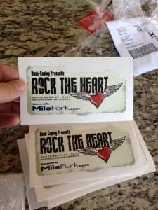 Rock The Heart Decals